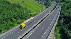 Huge highway on a viaduct Stock Footage