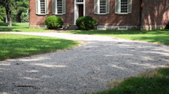 Front driveway Locust Grove Museum. - stock footage