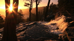 Eagle Falls Lake Tahoe at Sunrise Stock Footage