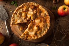 Fresh Homemade Apple Pie - stock photo