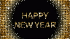 Happy New Year Greetings – seamless looping Stock Footage