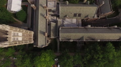 Aerial drone over Princeton, New Jersey. Stock Footage