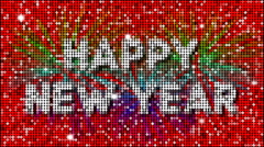 Happy New Year Greetings – seamless looping - stock footage