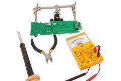 Checking Circuit by Multi-Meter Stock Photos