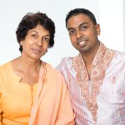 Stock Photo of Indian family mother and son