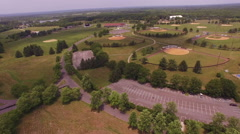 Recreational park aerial pan. Arkistovideo