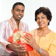 Stock Photo of Indian family celebrate birthday