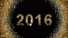 Happy New Year Greetings – year 2016, seamless looping Stock Footage