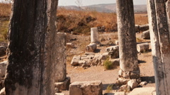 Time-lapse of ruins on Mount Arbel, Israel. Cropped. Stock Footage