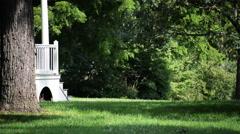 Side yard Locus Grove Museum. Stock Footage