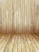 Stock Illustration of Abstract Wood Plank and wall Background
