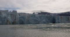 Cruise Through Ice Berg Bay with Glacier Stock Footage
