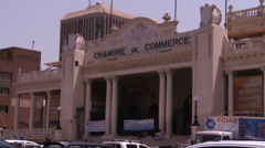 Chambre De Commerce exterior. - stock footage