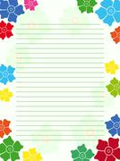 Stock Illustration of Notepad empty blank with floral frame