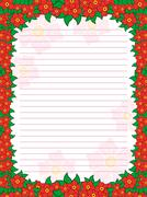 Sheet of notepad with floral frame in red hues - stock illustration