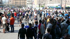 4K Syrian Migrants at the Eastern Railway Station in Budapest Hungary 29 1 Stock Footage