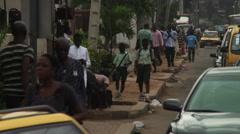 African street scenes. - stock footage