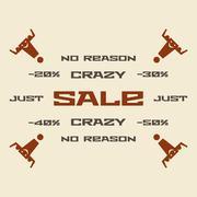 No reason sale vector illustration Stock Illustration