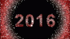 Happy New Year Greetings – year 2016, seamless looping Arkistovideo