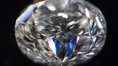 Natural Earth mined diamond 0,2 carat under microscope, magnif. 40X Stock Footage
