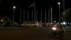Timelapse view of night Vungtau Stock Footage
