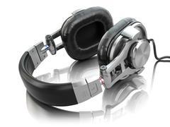 Headphones isolated on white background. Stock Illustration