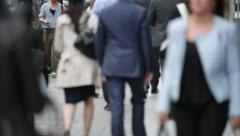Crowd of People on a rush hour in London Stock Footage