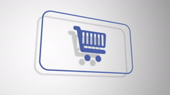 Shopping Cart button animation - stock footage