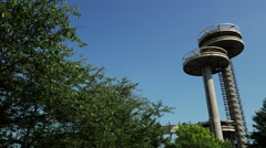 Observation Tower from 1964 World's Fair. Stock Footage