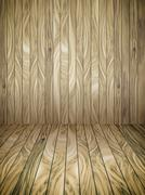 Abstract Wood Plank and wall Background - stock illustration