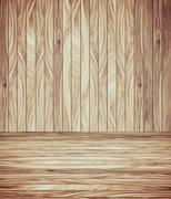 Abstract Wood Plank and wall Background Stock Illustration