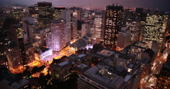 Downtown Rio de Janeiro time lapse at night 4K. Stock Footage