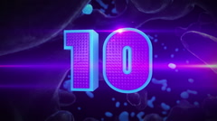 Top Ten Countdown animation Stock Footage