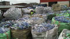 Recycling cans and bottles in Africa. Stock Footage