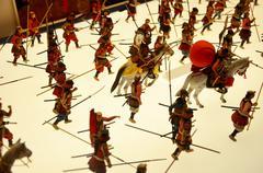 Stock Photo of Japanese warrior doll battle