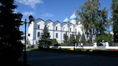 The Annunciation Cathedral, Kazan Kremlin in Kazan Stock Footage