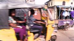Street scene. Stock Footage