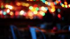 Soft blur table inside bar. Stock Footage