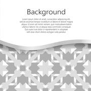 Vector abstract background. Vector booklet list - stock illustration