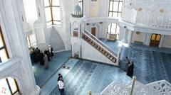 Qol Sharif  Mosque inside in Kazan Kremlin, Tatarstan, Russia. Stock Footage