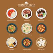 Set of chinese food Piirros