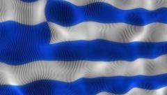 Waving Flag Greece Stock Footage