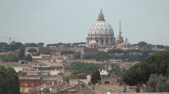 Aerial View Vatican Palace Summer Hot Day Rome Cityscape Urban Lansdcape Stock Footage