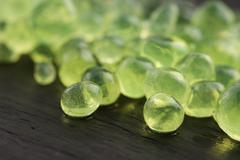 Mint caviar, molecular gastronomy Stock Photos