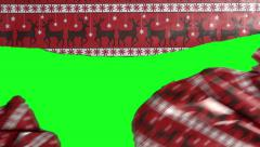 Wrapping Paper Tears Transition Stock Footage