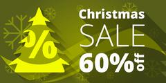 Christmas sale design template. - stock illustration