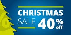 Christmas sale design template Stock Illustration
