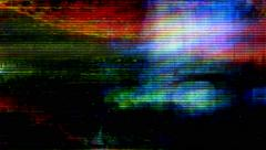 TV screen pixels fluctuate with color and video motion - Video Flux 040 HD, 4K - stock footage