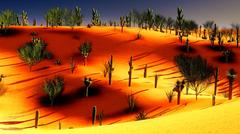 American desert Stock Illustration