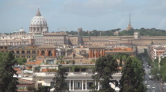 Stock Video Footage of Rome Cityscape Vatican Christianity Emblem Urban View Buildings Street Traffic